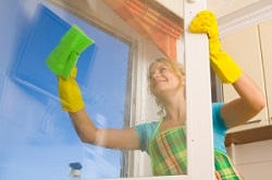 Greater London cleaning window
